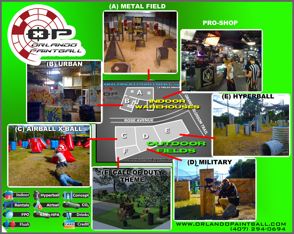 Orlando Paintball Field Layout