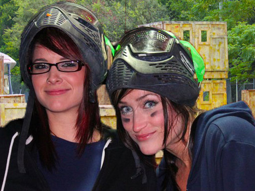 Orlando Paintball Field F - Two Girl Players